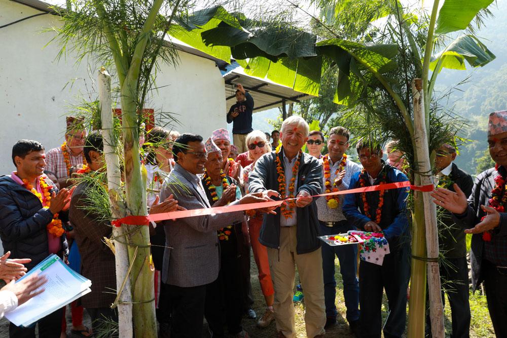 Inhuldigingsceremonie Thulodhunga WASH project door Daan van Vliet