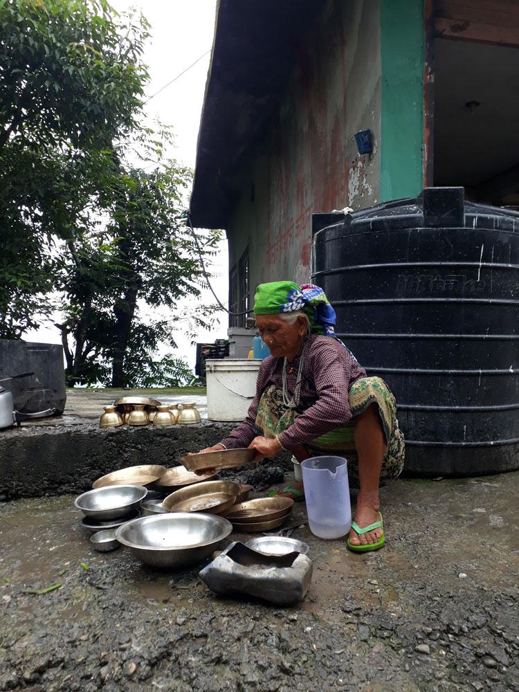 Er is weinig water om te koken in Ramkot