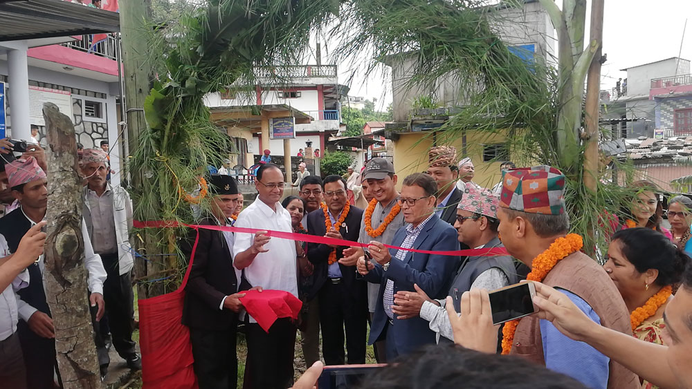 De burgemeester van Pokhara opent het Kalika-project