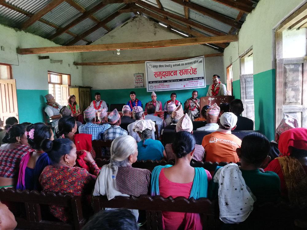 Speech van het Nepalese Rode Kruis in Hamsapur