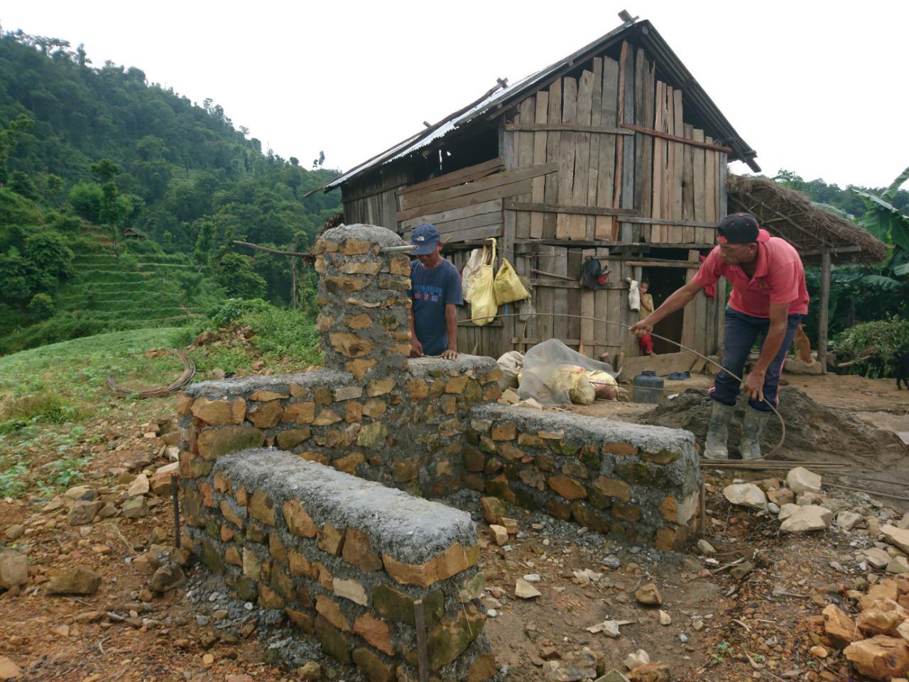 Tapconstructie in Kiratikhola